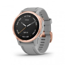Garmin Fenix 6S Smart Watch Sapphire Rose Gold-tone with Powder Gray Band
