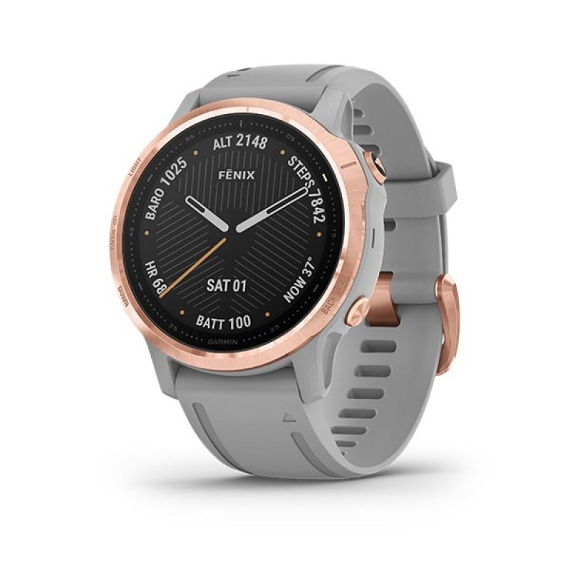 Garmin Fenix 6S Smart Watch Sapphire Rose Gold-tone with Powder Gray Band