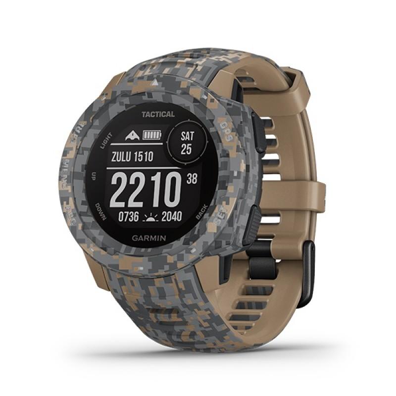 Garmin Instinct Tactical Smart Watch Camo With Coyote Tan