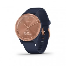 Garmin Vivomove 3S Smart Watch Navy With Rose Gold