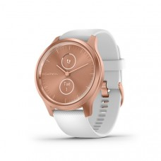 Garmin Vivomove Style Smart Watch Rose Gold With White Silicone