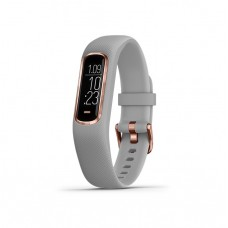 Garmin Vivosmart 4 Fitness Tracking Watch Rose Gold With Grey Band