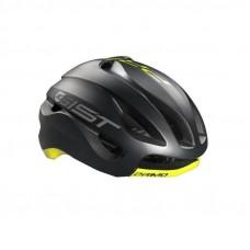 Gist Primo Road Bike Helmet Black Yellow Fluo