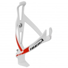 Ibera Aluminium Bottle Cage BC-14 White-Red