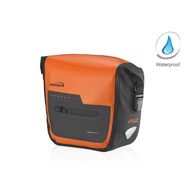 Ibera Waterproof Handlebar Bag Orange HB9