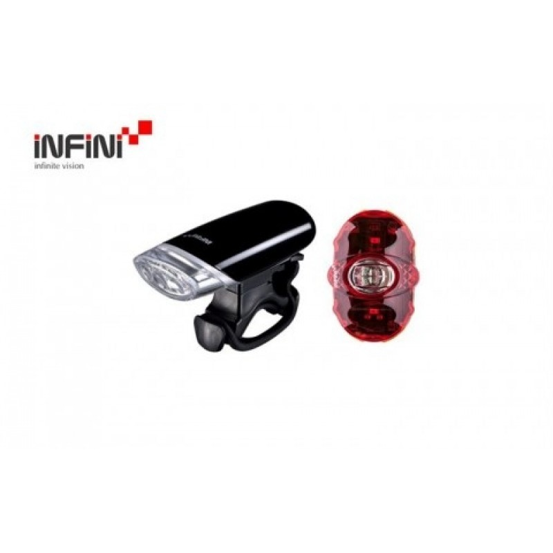 Infini Luxo Cycle Front & Rear Light Set