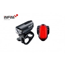 Infini Olley Cycle Front & Rear Light Set