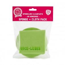 Juice Lubes Sponge Job Clean Parts-Sponge & Cloth Pack