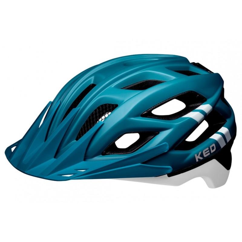 KED Companion  MTB Cycling Helmet Blue White Matt