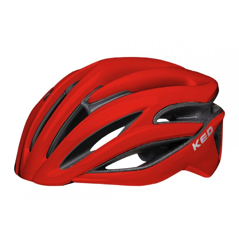 KED Rayzon Road Cycling Helmet Fiery Red