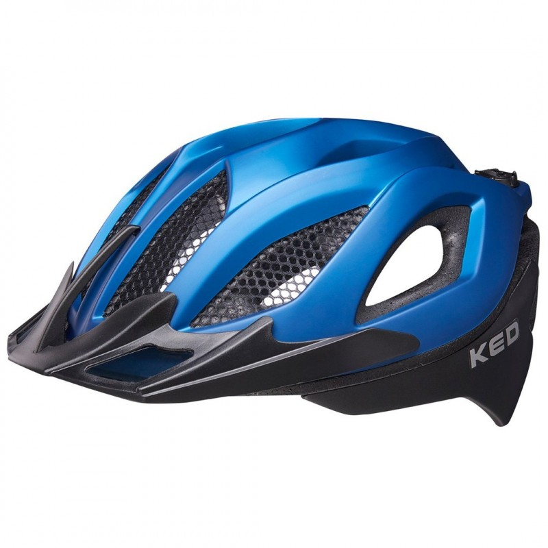 KED Spiri II MTB Cycling Helmet Blue Black Matt
