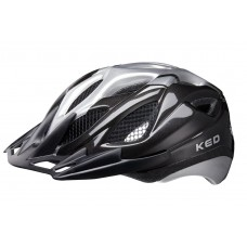 KED Tronus MTB Cycling Helmet Black Silver