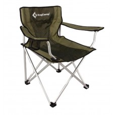Kingcamp Aluminium Folding Chair Black/Green Stripes KC3803
