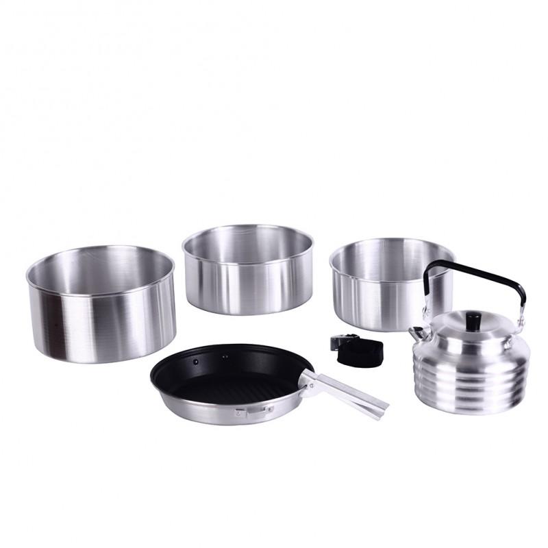 Kingcamp Camper 4 Cookware Aluminium Set Silver KP3903