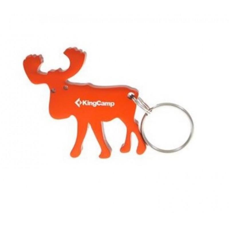 Kingcamp Moose Key Ring Bottle Opener Orange KA8005