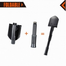 Kingcamp Multi-Function Foldable TRI-Folded Shovel Black KA3105