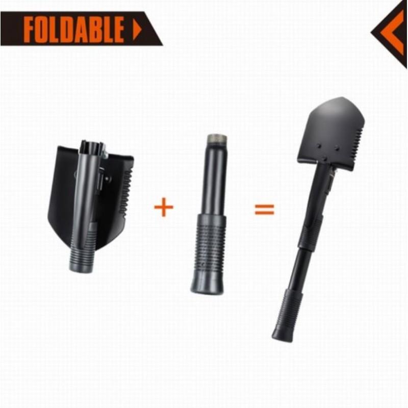 Kingcamp Multi-Function Foldable TRI-Folded Shovel Black KA3105