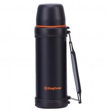 Kingcamp Stainless Steel Vacuum Bottle 24hrs Cooling Black 1000ML KA2743