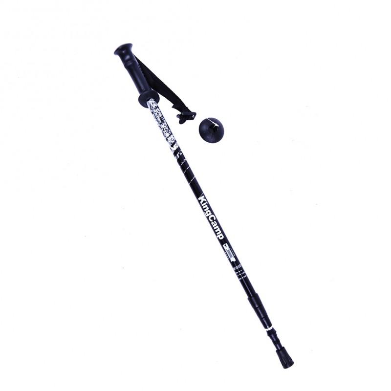 Kingcamp Travel Expert Walking Pole Aluminium Knob Handle Black KA4622
