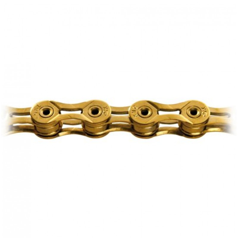 KMC 9 Speed X9sl Cycle Chain Gold