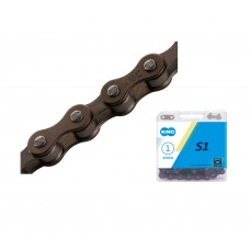KMC S1 Bike Chain Single Speed Brown Brown