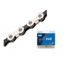 KMC X10 Bike Chain 10 Speed Silver Black