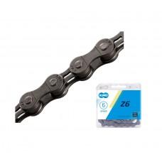 KMC Z6 Bike Chain 6 Speed Grey Grey