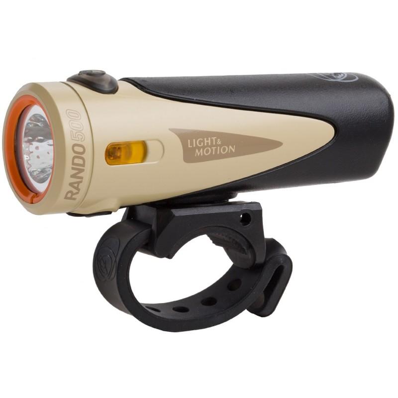 Light & Motion Rando 500 Bike Headlight Black/Tan Extended Runtime