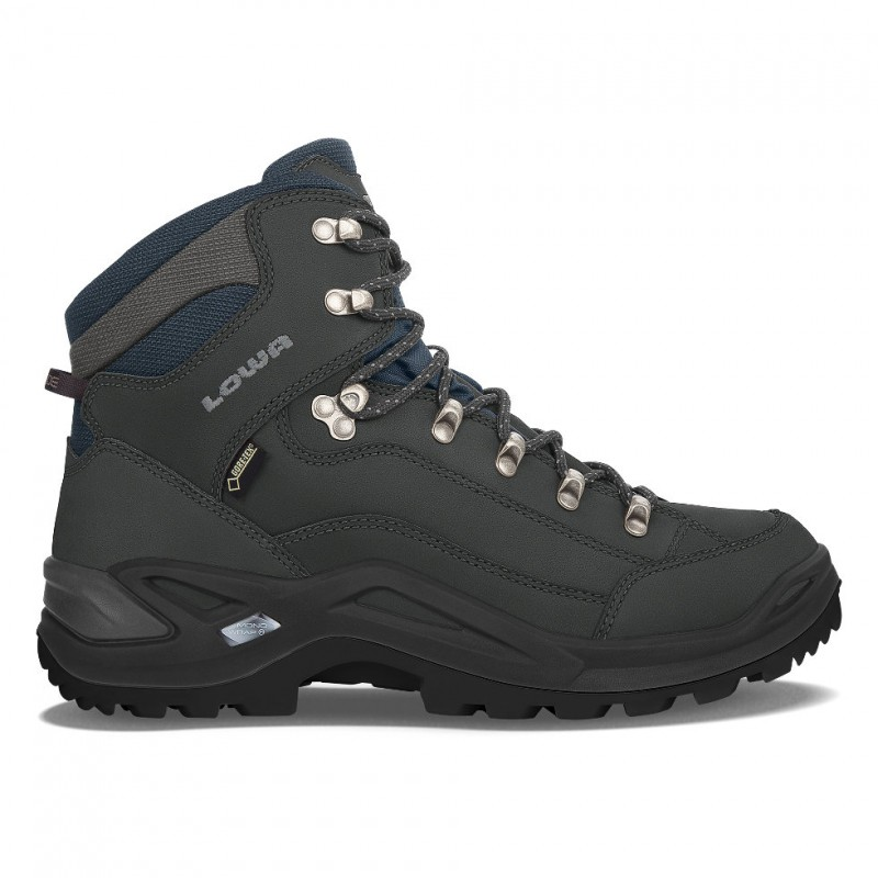 Lowa Renegade GTX Mid Hiking Shoe  (Dark Grey/Navy)