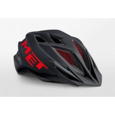 MET Crackerjack Cycling Helmet Black Red Matt 2019