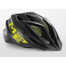 MET Crackerjack Cycling Helmet Black Texture Green Matt 2019