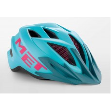 MET Crackerjack Cycling Helmet Light Blue Magenta Matt 2019