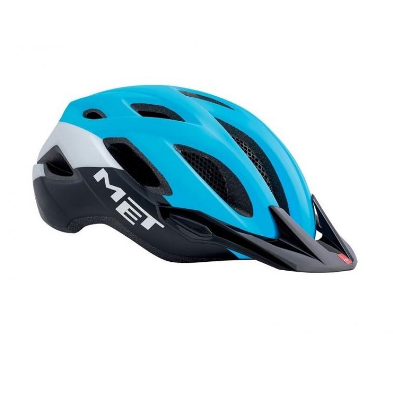 MET Crossover Active Cycling Helmet Cyan Black Matt 2019