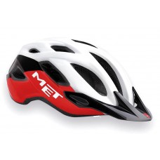 MET Crossover Active Cycling Helmet White Red Black Glossy 2019