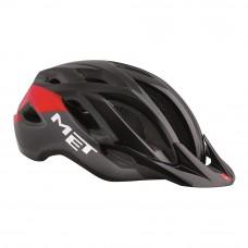 MET Crossover MTB Helmet Black-Red 2017