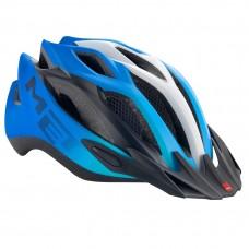 MET Crossover MTB Helmet, Cyan-Black-White