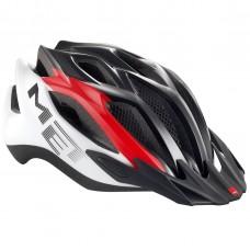 MET Crossover MTB Helmet, Red-White-Black