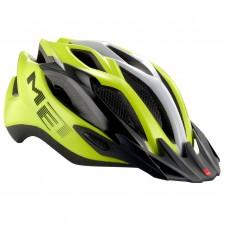 MET Crossover MTB Helmet, Safety Yellow-Black-White