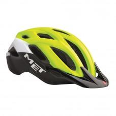 MET Crossover MTB Helmet Safety Yellow-White-Black 2017