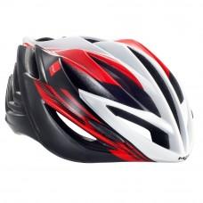 MET Forte Road Helmet, Red-White-Black