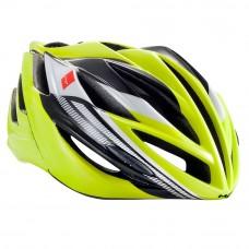 MET Forte Road Helmet, Safety Yellow-Black-White