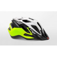 MET Funandgo Active Cycling Helmet White Safety Yellow Glossy 2019