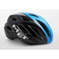 MET Idolo Road Cycling Helmet Black Shaded Cyan Glossy 2019