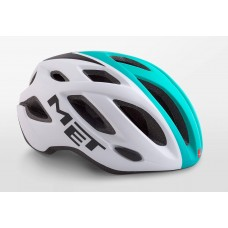 MET Idolo Road Cycling Helmet White Shaded Mint Green Matt 2019