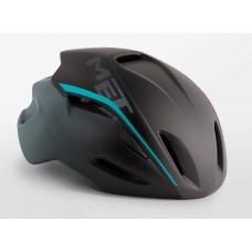 MET Manta Road Cycling Helmet Shaded Black Cyan Matt 2019
