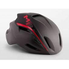 MET Manta Road Cycling Helmet Shaded Black Red Matt 2019