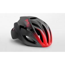 MET Rivale Road Cycling Helmet Black Shaded Red Matt Glossy 2019