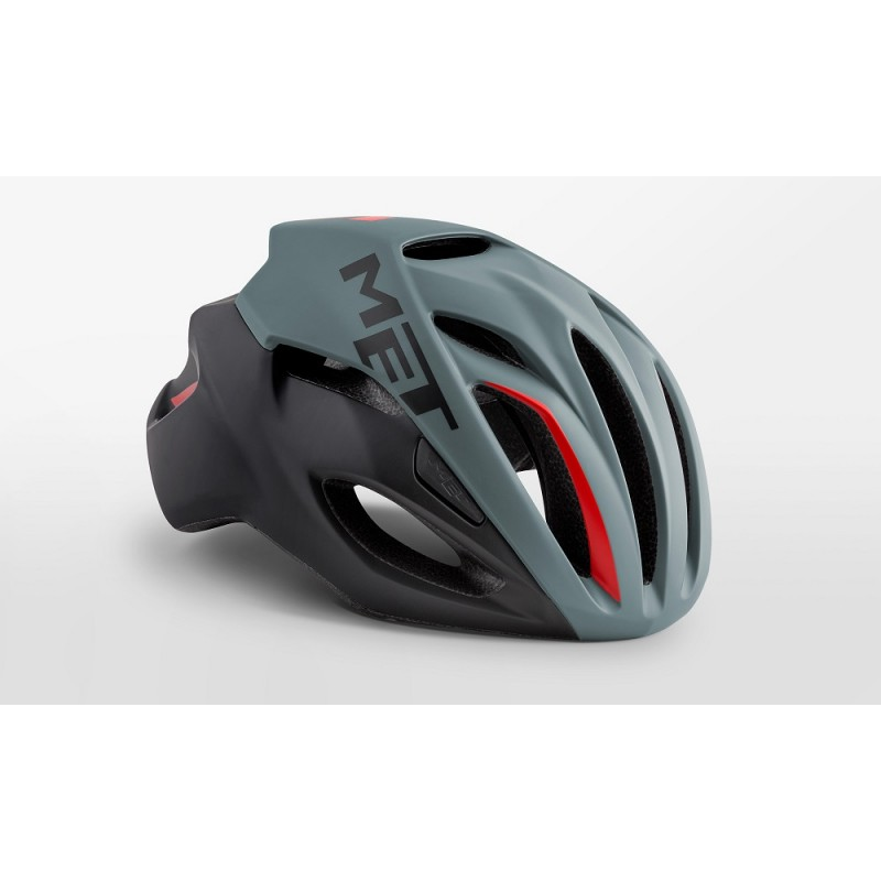MET Rivale Road Cycling Helmet Grey Black Red Matt 2019