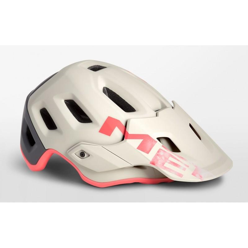 MET Roam MTB Cycling Helmet Dirty White Gray Pink Matt 2019
