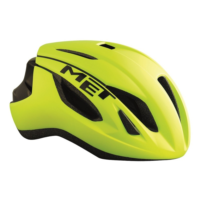 MET Strale Road Bike Helmet Yellow-Black 2017